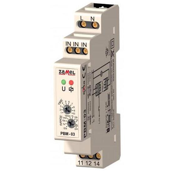 Przekaźnik czasowy bistabilny z wyłącznikiem czasowym 230V typ: PBM-03 Zamel