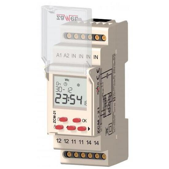 Programator 1-kan. roczny 24-250 VAC/30-300 VDC 16A typ: ZCM-21/U Zamel