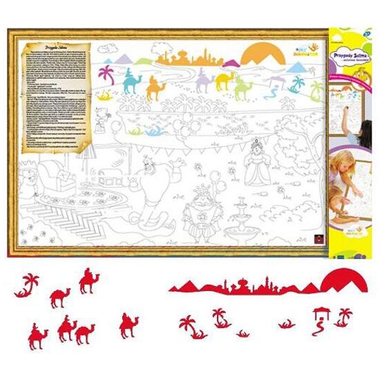 Naklejka dekoracyjna welurowa wielbłądy MD 673066-6 Klimaty Domu