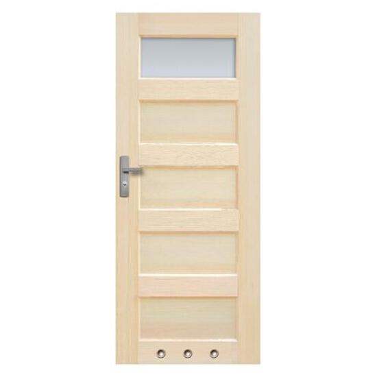 Drzwi sosnowe Istria przeszklone (1 szyba) z tulejami 60 prawe Radex