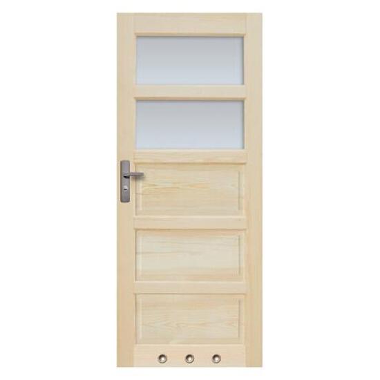 Drzwi sosnowe Sevilla przeszklone (2 szyby) z tulejami 70 lewe Radex