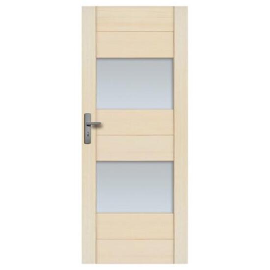 Drzwi sosnowe Praga przeszklone (2 szyby) 80 lewe Radex