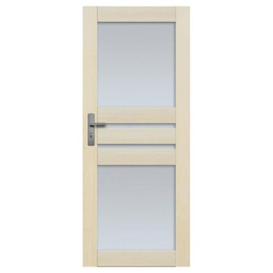 Drzwi sosnowe Madryt przeszklone (4 szyby) 90 lewe Radex