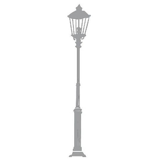 Naklejka dekoracyjna welurowa latarnia 679019-12 Klimaty Domu
