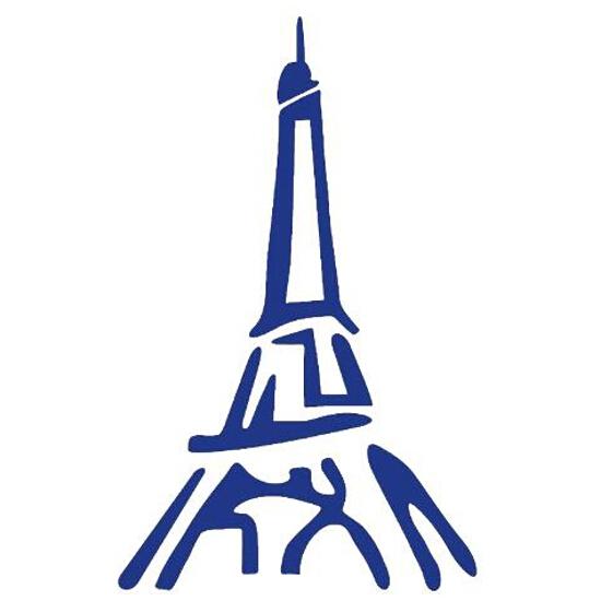 Naklejka dekoracyjna welurowa wieża 679123-13 Klimaty Domu