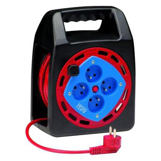 Przedłużacz ogrodowy bębnowy zamknięty 8m 3x1mm 4G 2P+Z Lena Lighting