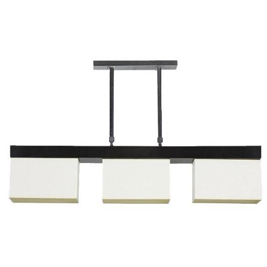 Lampa wisząca Hague1 3x60W E14 wenge / kremowa Sanneli Design