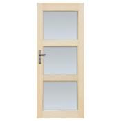 Drzwi sosnowe Bort przeszklone (3 szyby) 80 prawe Radex