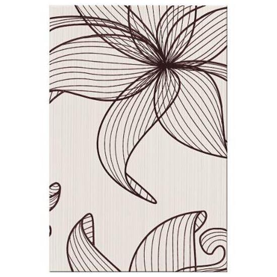 Płytka ścienna centro Lorena brązowe flower b 30x45