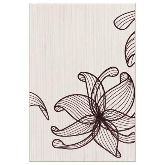 Płytka ścienna centro Lorena brązowe flower a 30x45