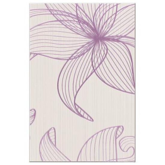 Płytka ścienna LORENA kremowa inserto kwiaty B błyszcząca 30x45 gat. I