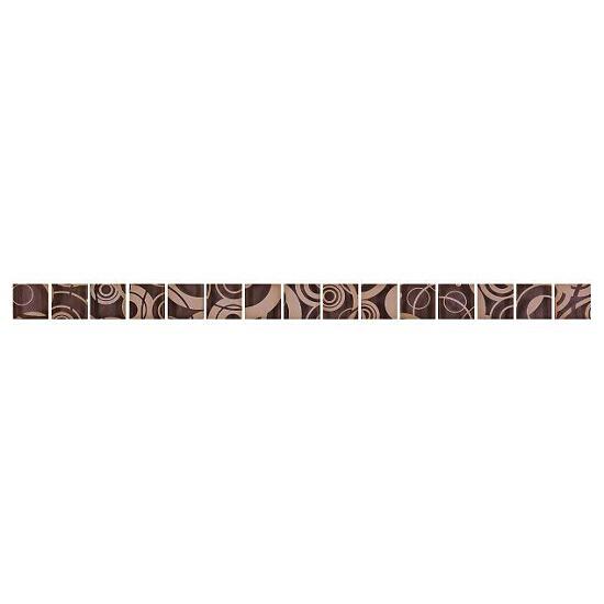Płytka ścienna Lorena brązowa glass 45x2,8
