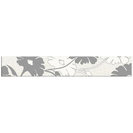 Płytka ścienna Polinesia szara flower 45x7