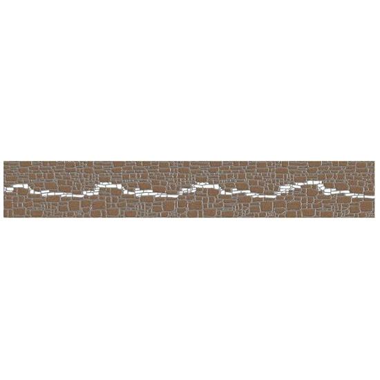 Płytka ścienna Polinesia szara modern 45x7