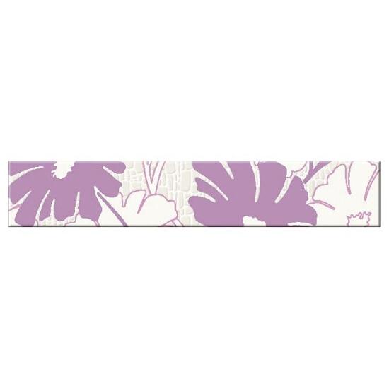 Płytka ścienna Polinesia fioletowa flower 30x5,4