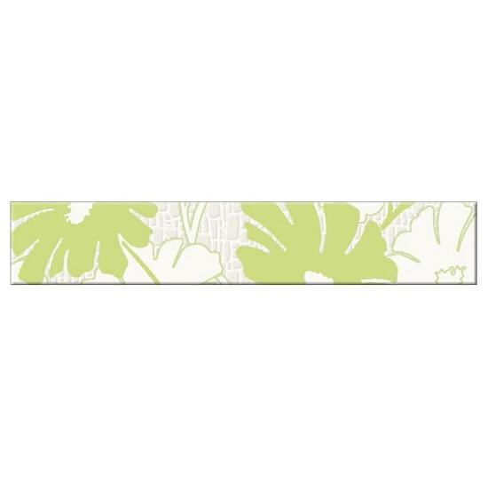 Płytka ścienna Polinesia zielona flower 30x5,4