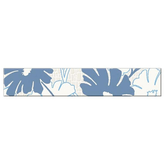 Płytka ścienna Polinesia niebieska flower 30x5,4