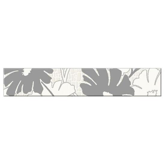 Płytka ścienna Polinesia szara flower 30x5,4