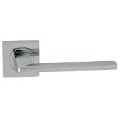 Klamka drzwiowa TIME-QR szyld dzielony kwadratowy chrom lakierowany Domino