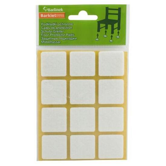 Podkładki filcowe białe 28x28 mm kwadratowe 12 szt. Barlinek