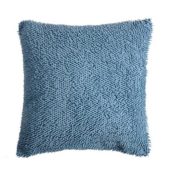 Poduszka Micro Shaggy 38x38cm niebieski Domarex