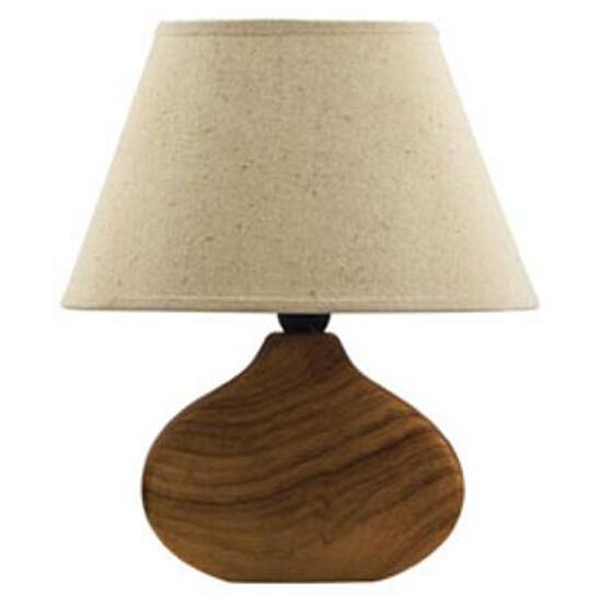 Lampa stołowa drewnopodobna 40W E14 E-328 ANS