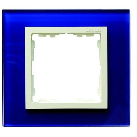 Ramka Simon 82 1x kryształ-morski/pośrednia biała 82617-64 Kontakt Simon