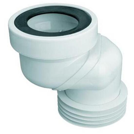 Złącze do WC krótkie 160mm 90-110/110mm mimośrodowe 60mm (WC-LO-6) McAlpine