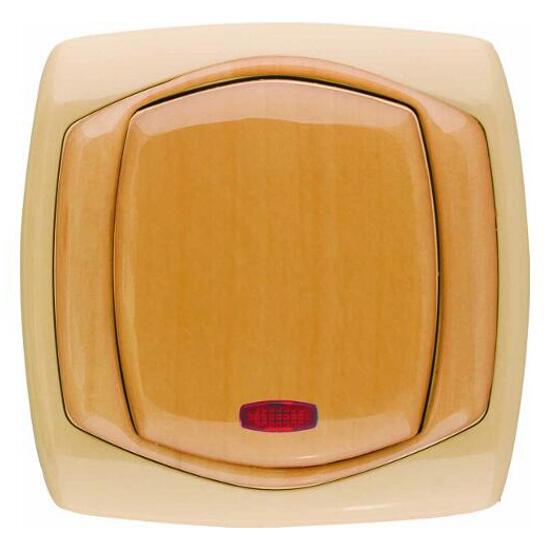 Łącznik COMFORT krzyżowy z podświetleniem ŁP-4XS.CB/GR ciemnobeżowy, gruszkowy Polmark