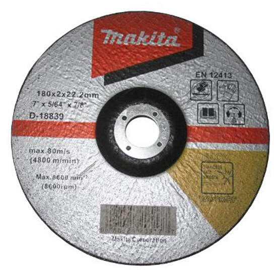 Tarcza tnąca do stali D-18839 180x2x22,2mm Makita