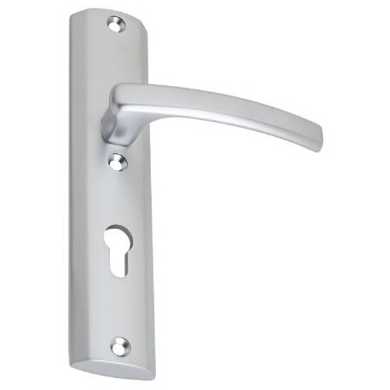 Klamka drzwiowa ODA szyld długi zewn. wkładka chrom satynowy DH-O-12Z-Y-72-08-P Gamet
