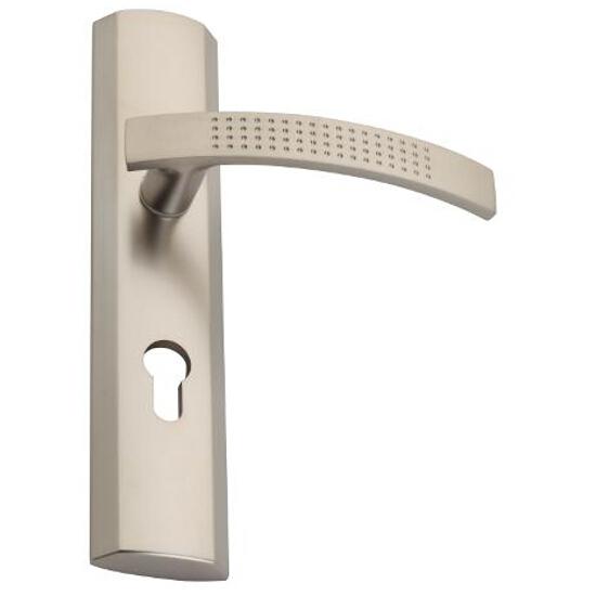 Klamka drzwiowa TALIA szyld długi zewn. wkładka nikiel satynowy DH-T-12Z-Y-72-06-L Gamet