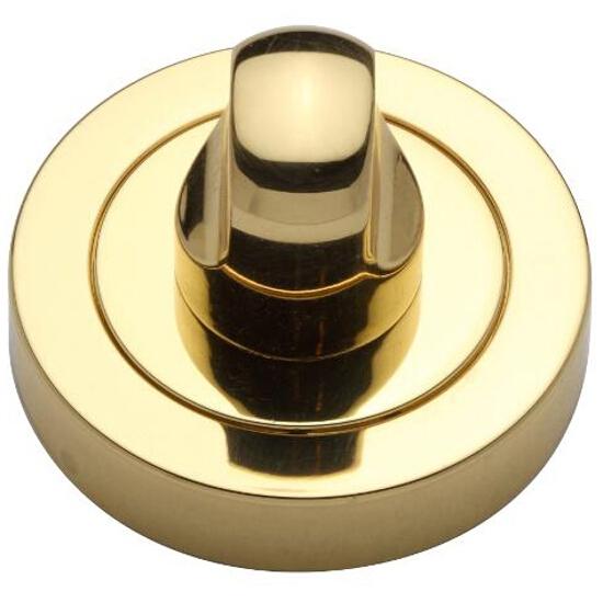 Szyld drzwiowy okrągły WC złoty/złoty matowy VES-OK-WC-OL Verdi