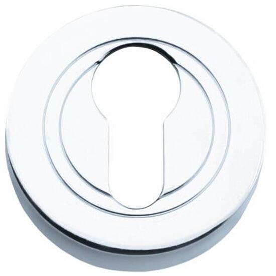Szyld drzwiowy okrągły wkładka chrom PLT-23-Y-04-SU Gamet