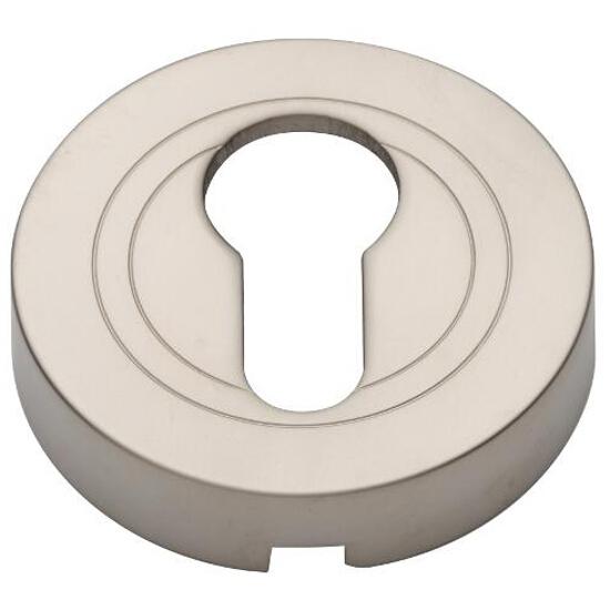 Szyld drzwiowy okrągły wkładka nikiel satynowy PLT-23-Y-06-SU Gamet