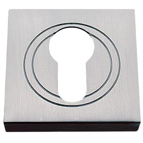 Szyld drzwiowy kwadratowy wkładka nikiel szczotkowany Gamet