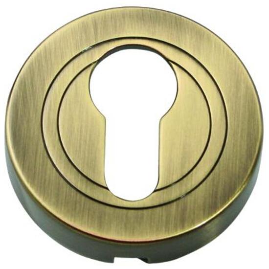 Szyld drzwiowy okrągły wkładka mosiądz antyczny PLT-23-Y0AB-SU Gamet