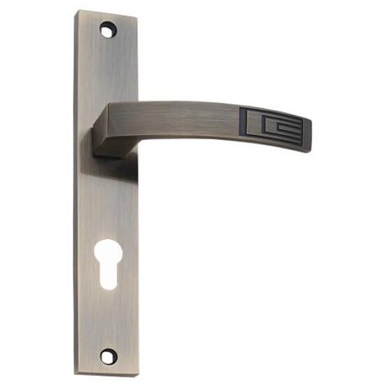 Klamka drzwiowa HYDRA szyld długi wkładka mosiądz antyczny DH-14-113Y-72-AB Gamet