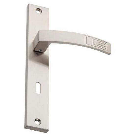 Klamka drzwiowa HYDRA szyld długi klucz nikiel szczotkowany DH-14-113N-72-07 Gamet