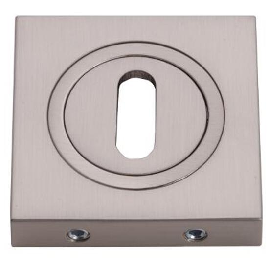Szyld drzwiowy kwadratowy klucz nikiel szczotkowany Gamet