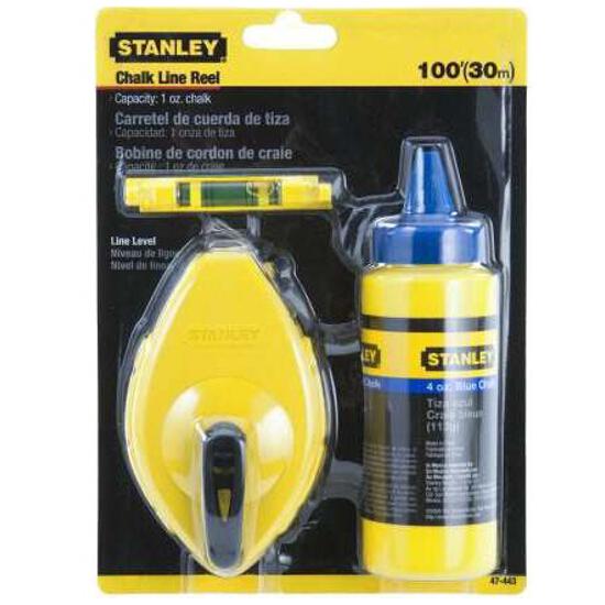 Zestaw sznurek traserski 30m, barwnik 115g, pion 47-443 Stanley