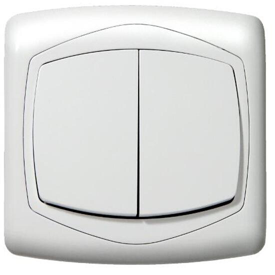 Łącznik TON podwójny schodowy biały Ospel