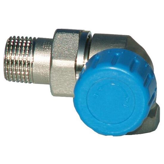 """Zawór zasilający termostatyczny DN15 1/2""""GZx1/2""""GW osiowy prawy niklowany Schlosser"""