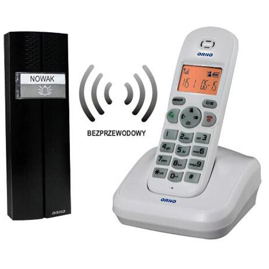 Domofon bezprzewodowy biały OR-DOM-CL-910/W Orno