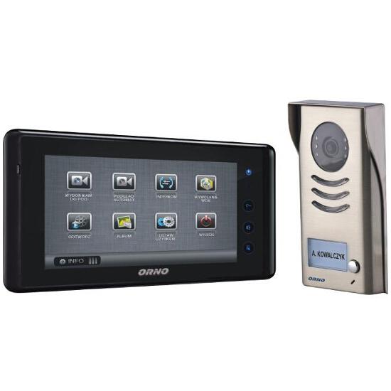 """Videodomofon kolorowy LCD 7"""" z ekranem dotykowym polskie menu OSD OR-VID-VT-1013 Orno"""