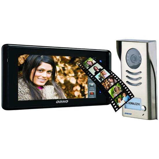 """Videodomofon kolorowy LCD 7"""" z pamięcią i czytnikiem kart SD OR-VID-VT-1017 Orno"""
