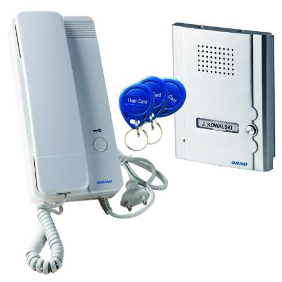 Domofon jednorodzinny z czytnikiem breloków zbliżeniowych OR-DOM-QH-911 Orno
