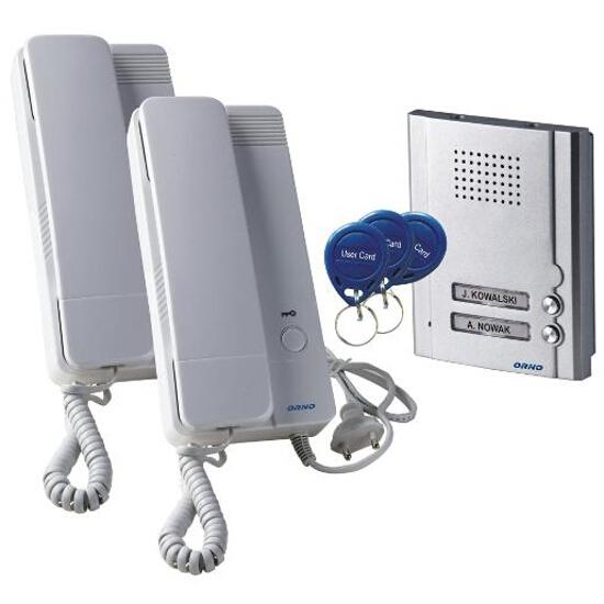 Domofon dwurodzinny podtynkowy z czytnikiem breloków zbliżeniowych OR-DOM-QH-912 Orno
