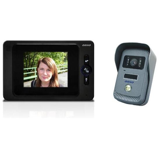 """Videodomofon kolorowy LCD 4"""" z funkcją otwierania bramy OR-VID-JS-1021 Orno"""
