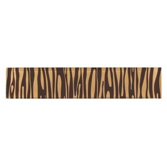 Płytka ścienna zebra brąz glass 29,7x6